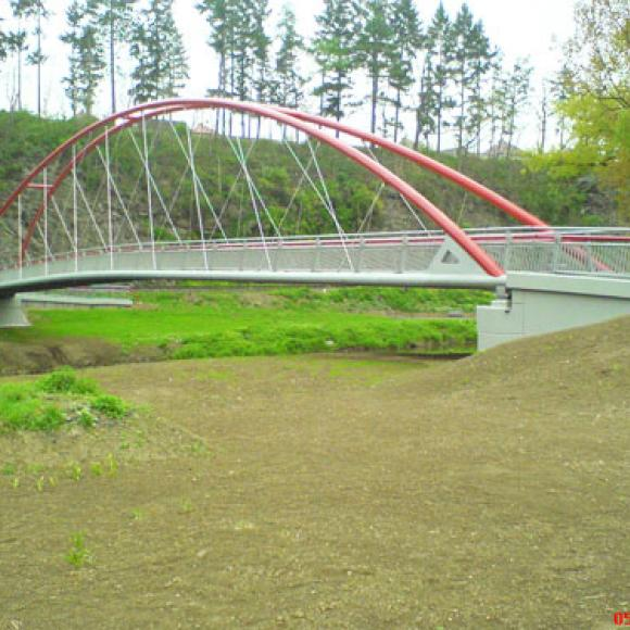footbridge across Sázava in the Zruč nad Sázavou