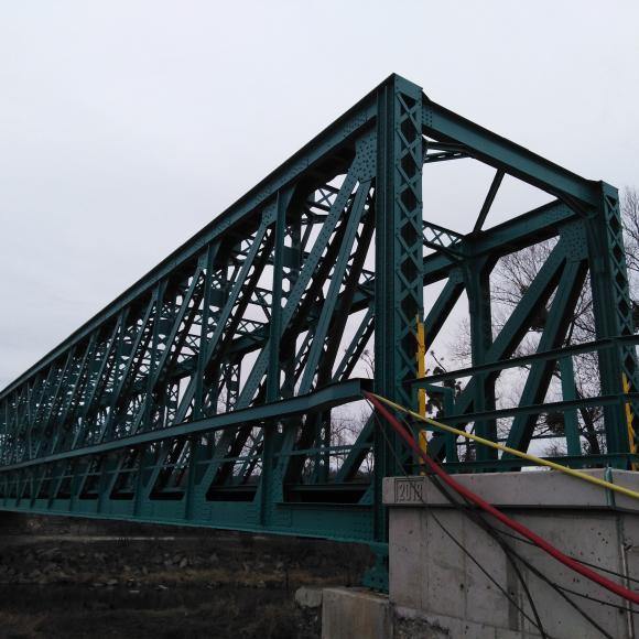 obnova PKO mostní ocelové konstrukce v km 103,854 - Pržno
